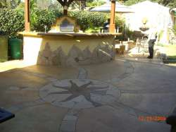 Concrete top w/ Arizona flagstone inlays